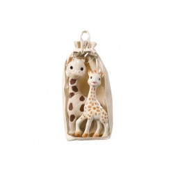 Set girafe peluche + Sophie...
